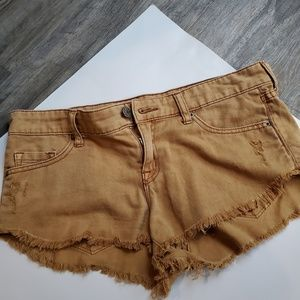 Tan/gold BDG jean shorts